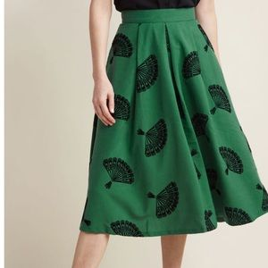 ModCloth Midi Skirt in Green